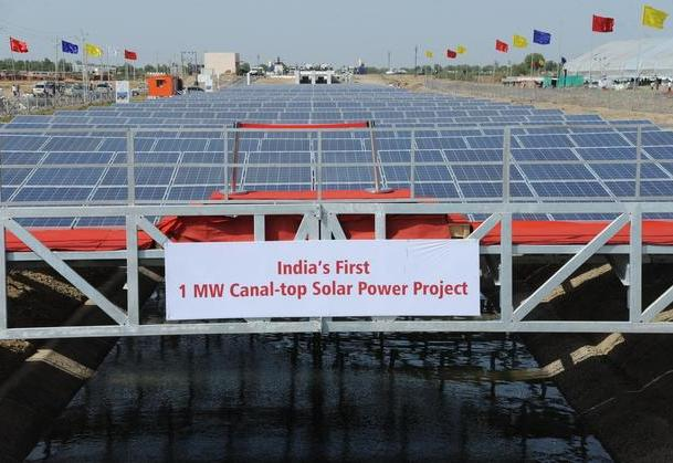 Canal-top solar power plant, Gujarat, Gujarat State Electricity Corporation Limited (GSECL), Sardar Sarovar Narmada Nigam Limited (SSNNL)