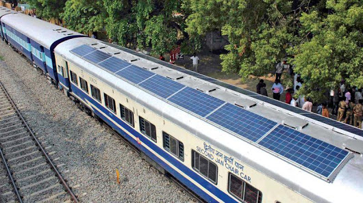 Indian Railway, solar train, DEMU, diesel electric multiple unit, Solar in delhi