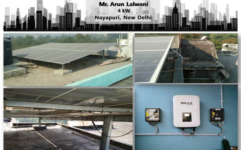 Solar in New Delhi – Mr. Arun Lalwani – Happy ZunRoof Client!