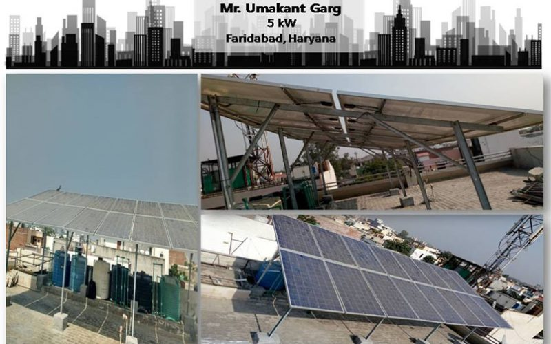 Solar in Faridabad–Mr. Umakant Garg–Happy ZunRoof Client!
