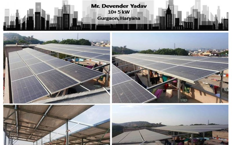 Solar in Gurgaon–Mr. Devender Yadav–Happy ZunRoof Client!