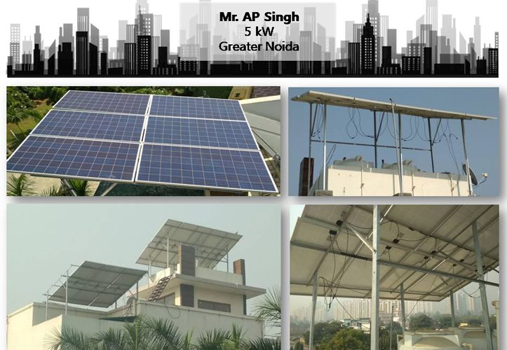 Solar in Greater Noida–Mr. AP Singh–Happy ZunRoof Client!