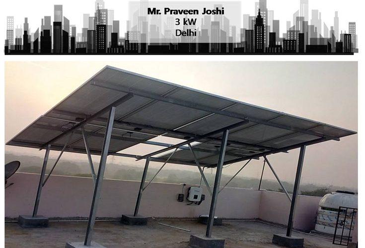 Solar in Delhi–Mr. Praveen Joshi–Happy ZunRoof Client!