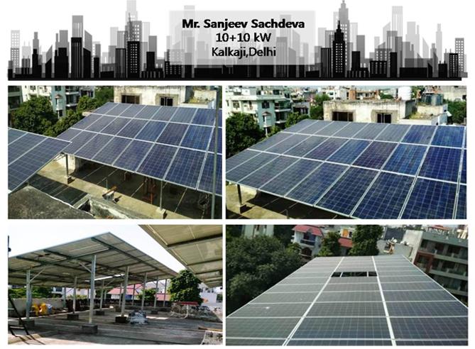 Solar in Delhi–Mr. Sanjeev Sachdeva–Happy ZunRoof Client!