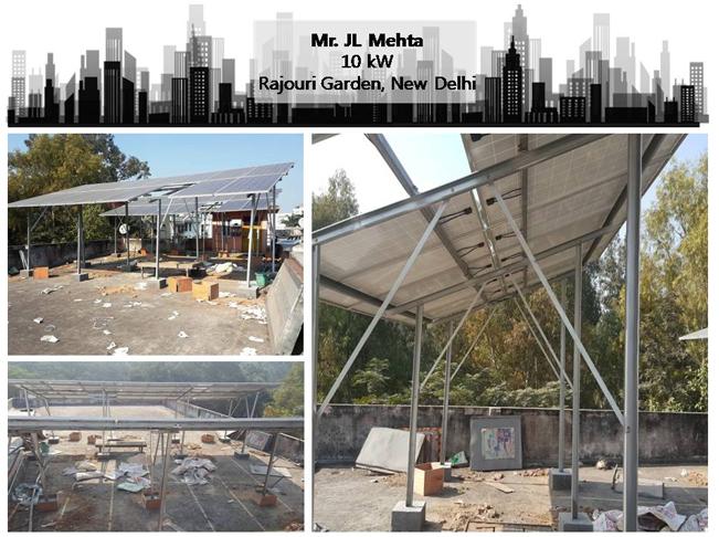 Solar in Delhi–Mr. J L Mehta –Happy ZunRoof Client!
