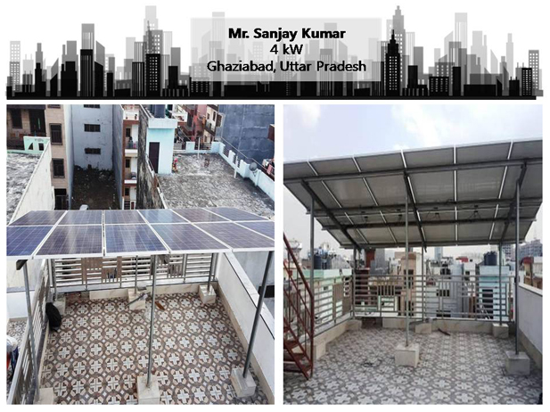 Solar in Ghaziabad–Mr. Sanjay Kumar –Happy ZunRoof Client!
