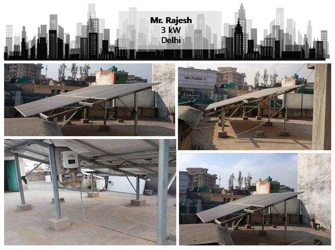 Solar in Delhi–Mr. Rajesh Kumar –Happy ZunRoof Client!
