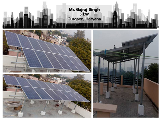 Solar in Gurgaon- Gajraj Singh!