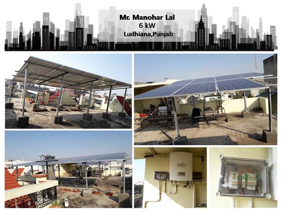 Solar in Ludhiana - Manohar Lal - Happy ZunRoof Client!