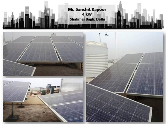 Solar in Delhi- Sanchit Kapoor - Happy ZunRoof Client!
