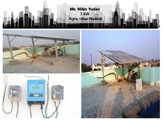 Solar in Agra- Nitin Yadav – Happy ZunRoof Client!