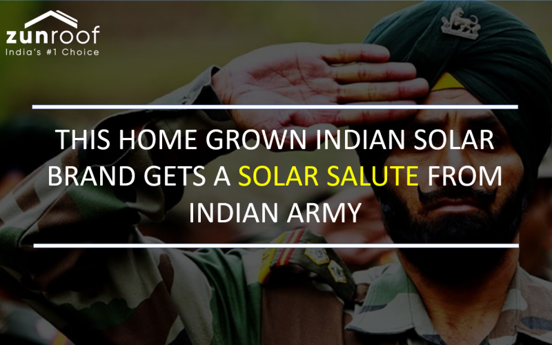 SOLAR SALUTE - This Indian Brand Makes Largest Solar Installations In Indian Army Officials' Homes