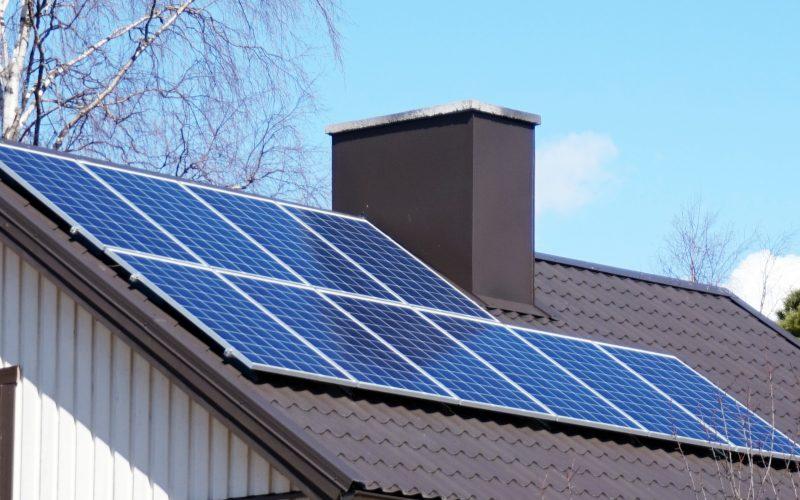 solar panel on home